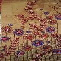 embroidered handloom silk fabric