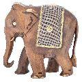 Wooden Metal Work Elephant