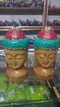 Wooden Buddha Head Statue