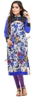 Blue Georgette Long Kurta