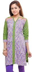 Menhndi Cotton Long Kurti