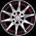 "13"" Onyx 1308 Black Polished Red Lip"