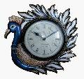 Peacock Wooden Wall Clock