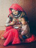 Rajasthani lady oil painting