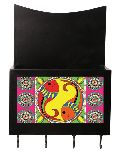 Madhubani Fish Wooden Key holder