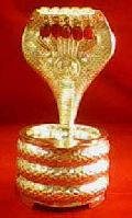 Gold Plated Snake Statue