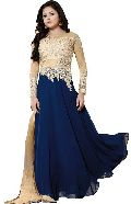 Embroidery Work Semi Stitched Anarkali Suit