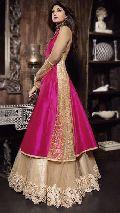 Fs1860 Georgette Embrodary Work Anarkali Type Gown