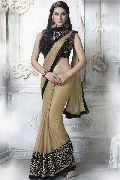 DESIGNER LUCTA SHIMMER & FAUX GEORGETTE JACQUARD PARTY WEAR SAREE