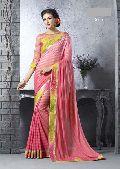 Designer Pink Digital Printed Party Wear Saree