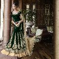 Ethnic Designer Embroidered Net Bridal Lehenga