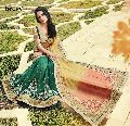 ETHNIC EMBROIDERED NET & SATIN CHIFFON PARTY WEAR SAREE