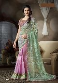Embroidered Chiffon Georgette Party Wear Saree