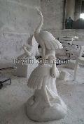 Stone Crane Statue