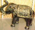 Brass Elephant Sculpture - (3344)