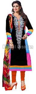 Attractive Black Colored Anarkali Suit
