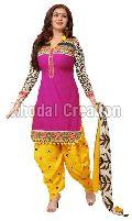 Baby doll Pink And Yellow Patiyala suits