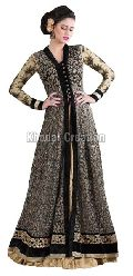 Beautiful Black and Cream Colored  Anarkali Suit