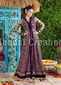 Beautiful Blue and Cream Colored  Anarkali Suit