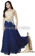 Beautiful Blue Colored Georgette Anarkali Suit