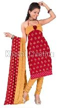 Beautiful Red and Yellow printed Straight Suit