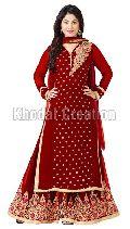 Heenari Maroon Plazoo Salwar Suit