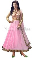 pink colored Anarkali Suit