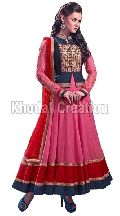 Pink colored Georgette Anarkali Suit