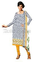 Royal yellow and gray Colored Straight Salwar Suit