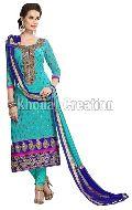SkyBlue Colored Designer Straight Salwar Suit
