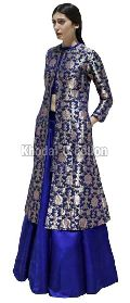 Stunning Blue Colored Plazoo Salwar Suit plazoo