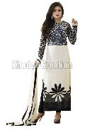 Trendy Black and white Colored Cotton Materialed Straight Suit