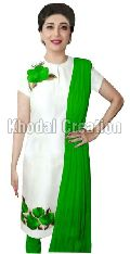Wonderful Green Colored Embroidered  Straight Suit