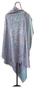 Paisley Embroidered Pashmina Shawl