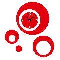 Laser Cut Circles Designer Wall Clock Sticker - LaserCraftStore