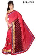 Designer Red Wedding Wear Saree
