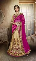 Gold and Rani Historical Designer Lehenga Choli with Heavy Embroidred