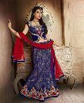 Neavy Blue and Red Designer Wedding Lehenga with Heavy Jal Work