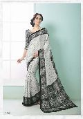 Radhika Fibers Color Crepe Silk Saree