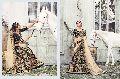 Radhika Fibers Black Color Half Net and Raw Silk Lehanga Saree