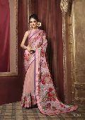 Radhika Fibers Light Pink Color Brasso Saree with Designer Blause