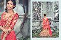 Radhika Fibers Pink Color Raw Silk Designer Lehanga Saree with Blause