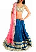 Designer Lehenga Choli with Bluecolor Lahenga and Net Fabric - 9208
