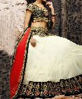 Designer lehenga choli with CreamColor Lahenga and Net Fabric