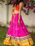 Designer Lehenga Choli with Whitecolor Lahenga and Net Fabric - 9255