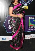 Latest Stylish Georgette Designer Saree with Black Color-9225
