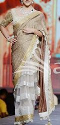 Latest Stylish Jacquard Designer Saree with Cream Color-9397