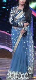 Latest Stylish Net Designer Saree with Blue Color-9400