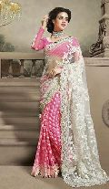 Net Designer Saree with Pink Color