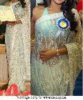 Latest Stylish Net Designer Saree with White Color-9189